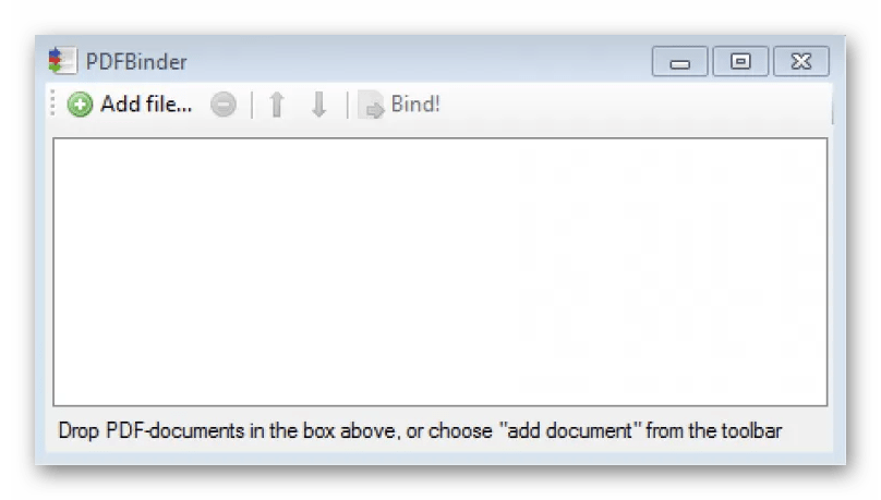 Интерфейс программы PDFBinder