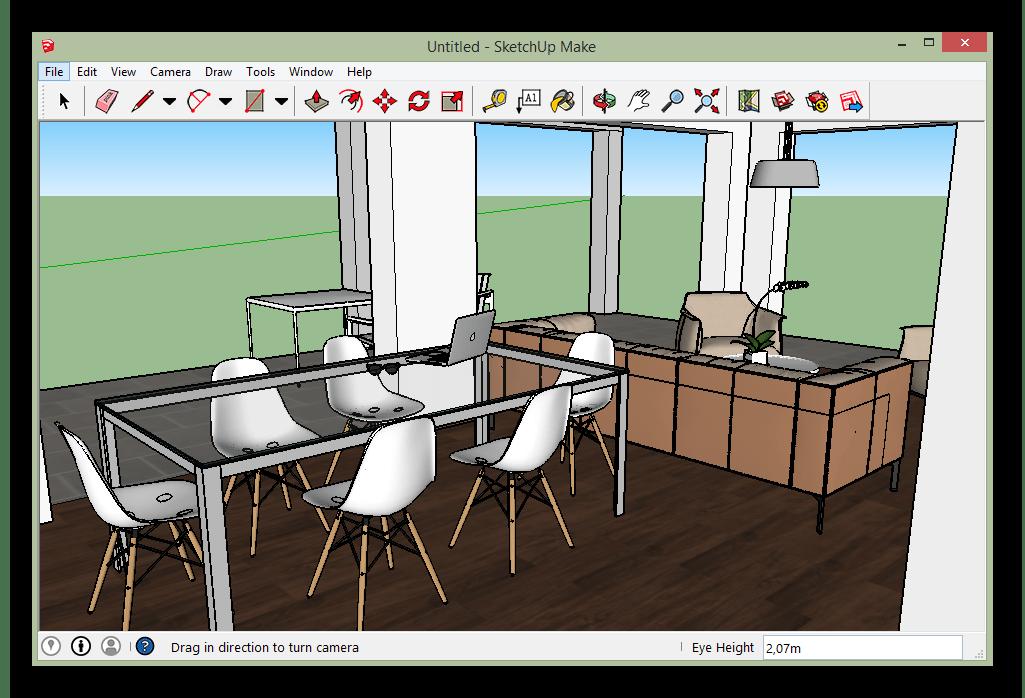 Интерфейс программы SketchUp