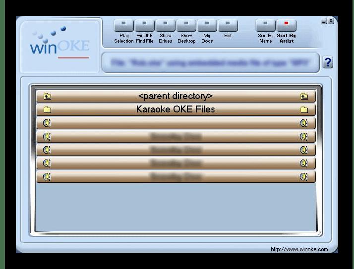 Интерфейс программы winOKE