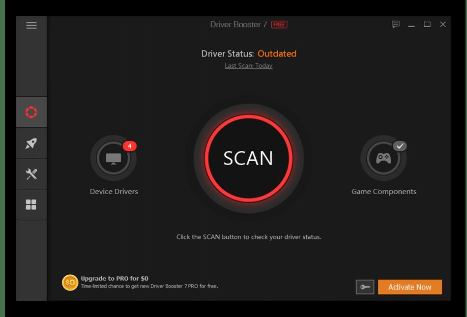 Использование программы Driver Booster для удаления драйверов NVIDIA