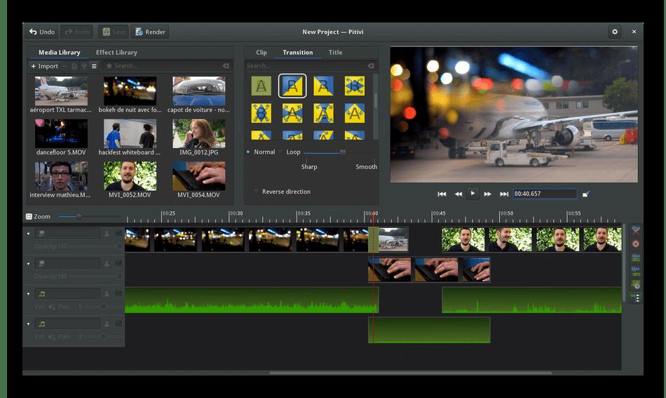 Использование программы Pitivi для редактирования видео в Linux