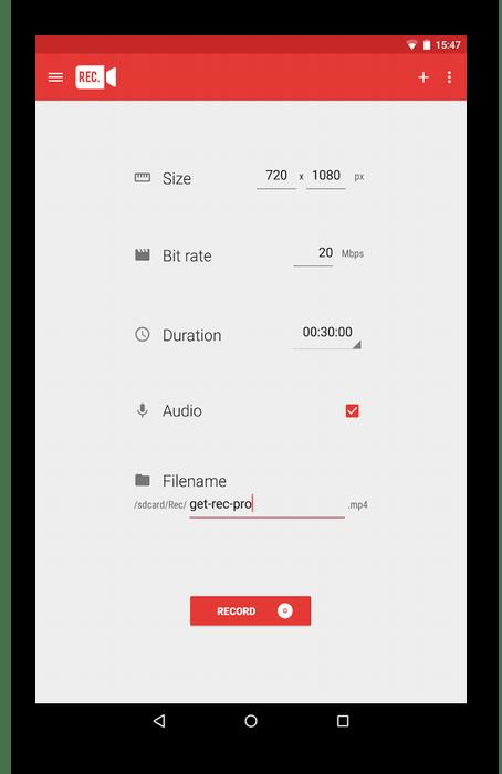 Использование программы Rec. (Screen Recorder) для записи видео с экрана телефона
