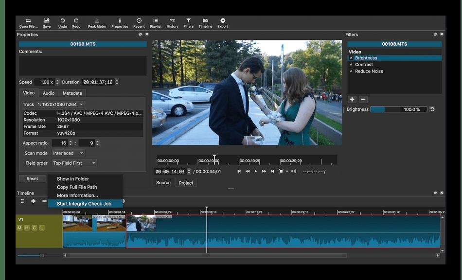 Использование программы Shotcut для редактирования видео в Linux