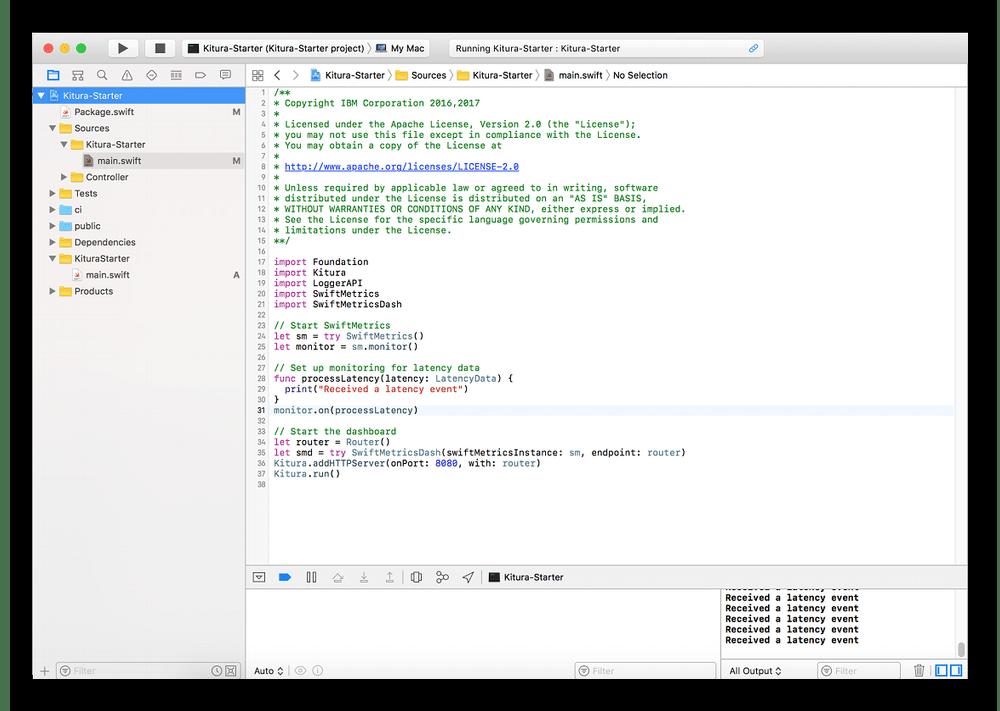 Использование среды разработки Xcode для написания кода