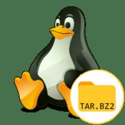как распаковать TAR.BZ2 в Linux