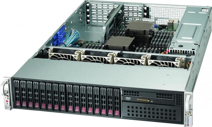 Пример сервера с установленным серверным процессором