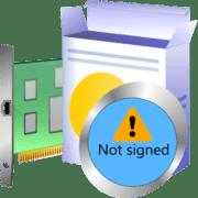 системе windows требуется драйвер с цифровой подписью