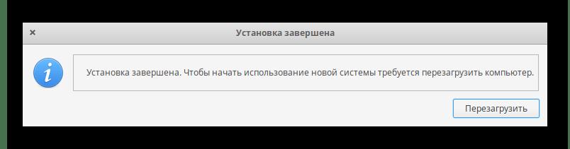 Успешное завершение установки Linux рядом с Windows 10