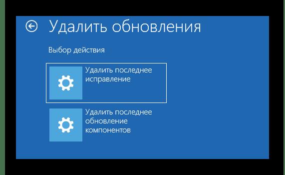 Выбор типа установленных обновлений для их очистки в Windows 10