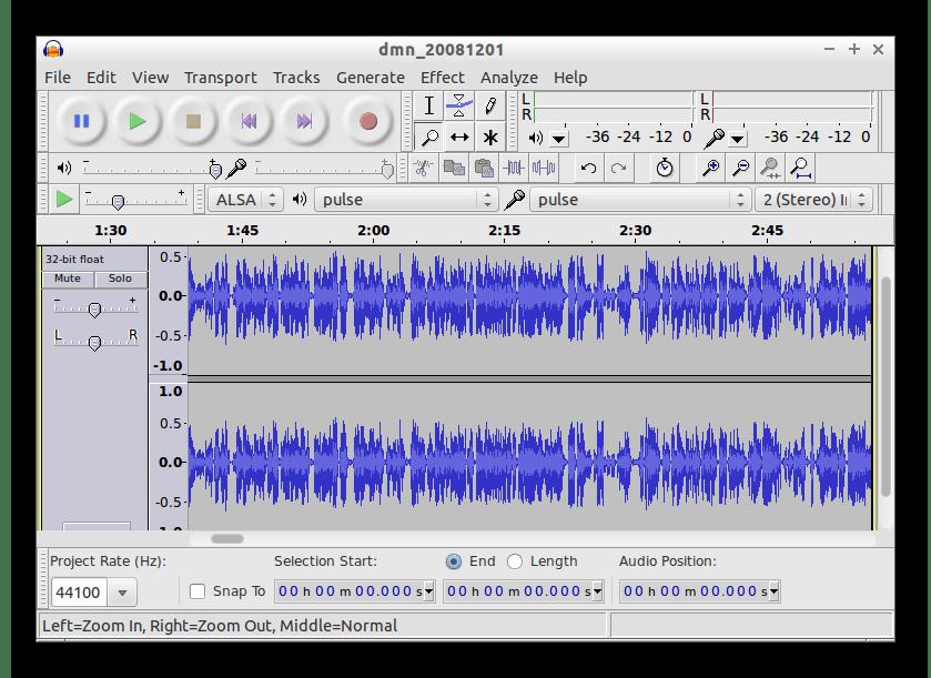 Использование программы Audacity для настройки микрофона в Windows 10