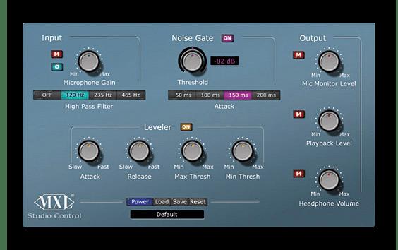 Использование программы MXL Studio Control для улучшения звука микрофона