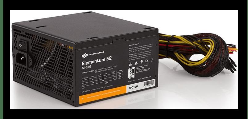 Маломощный блок питания SilentiumPC Elementum E2 SI 350W