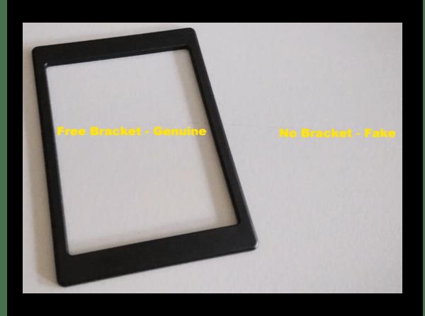 Наличие и отсутствие бесплатного кронштейна в SSD Kingston