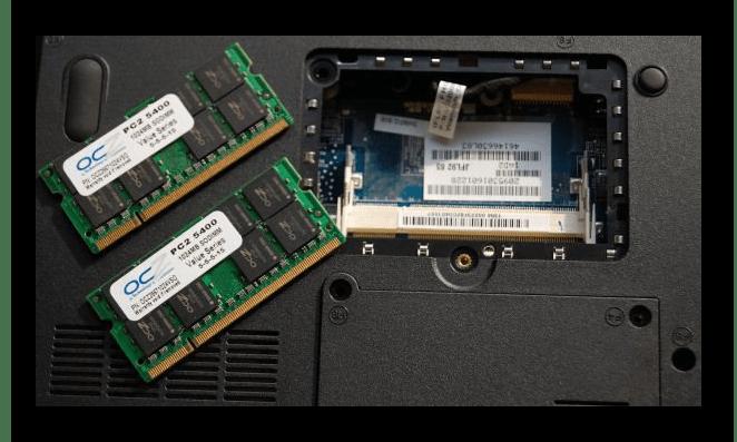 Оперативная память ноутбука, находящаяся вне материнской платы