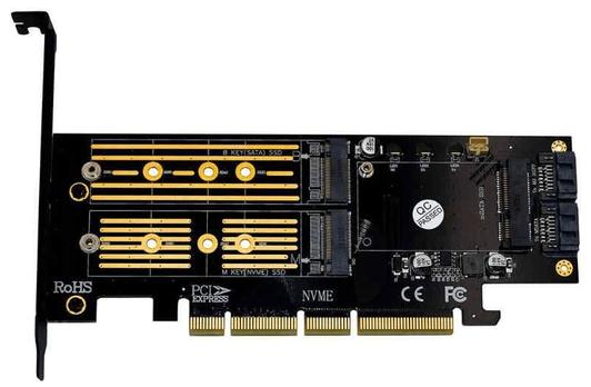 Переходник для SSD с M.2 на PCI Express обеспечивающий высокую скорость передачи данных