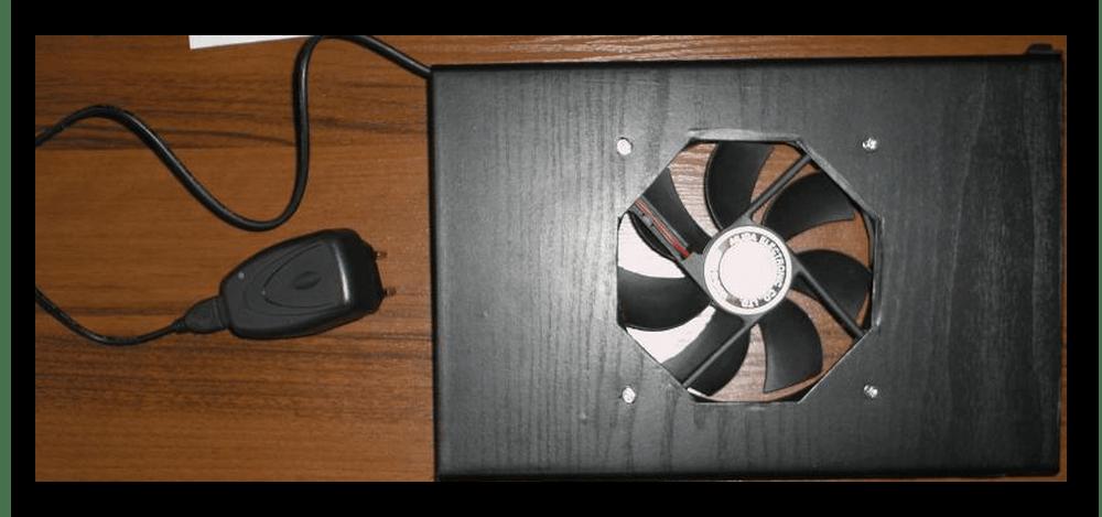Переносной самодельный вентилятор в пластиковом корпусе