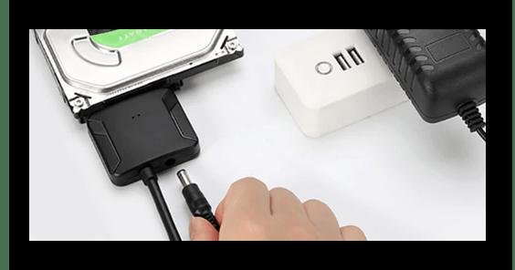 Подключение дополнительного питания к переходнику SATA-USB