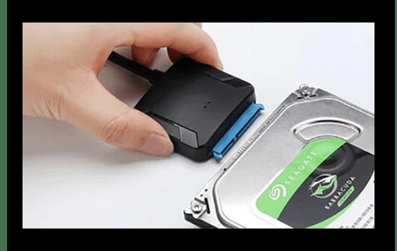 Подключение переходника SATA-USB к внутреннему жёсткому диску