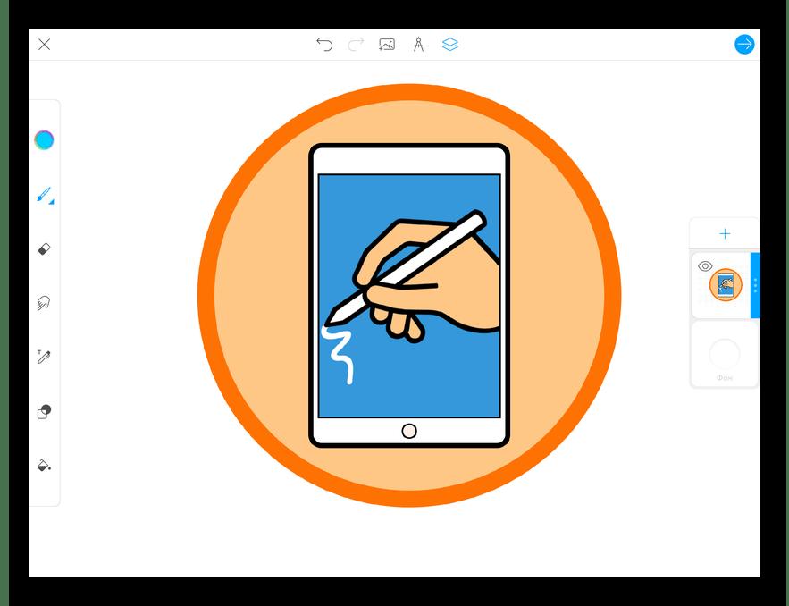 Приложение для рисования на iPad PicsArt Color Paint