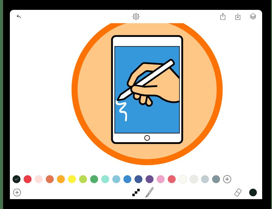 Приложение для рисования на iPad Tayasui Memopad