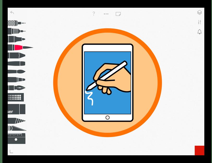 Приложение для рисования на iPad Tayasui Sketches