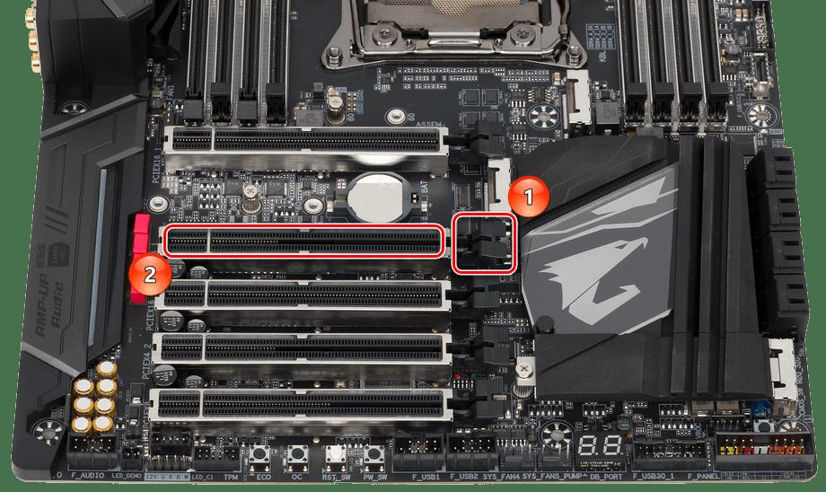 Разъёмы PCI Express для подключения звуковой карты к ПК