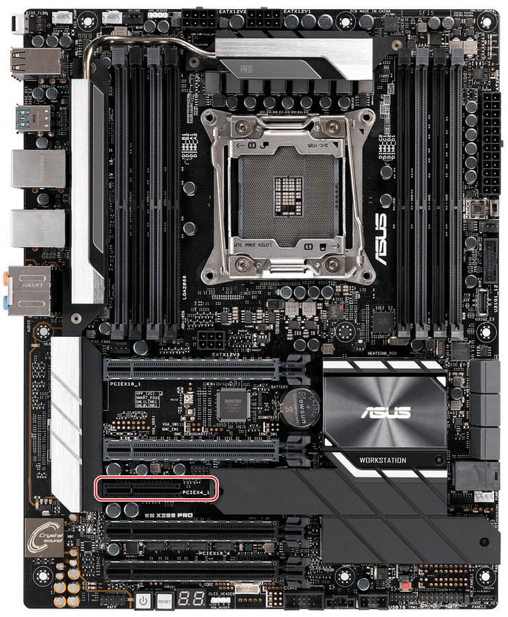 Слот PCI Express x4 на материнской плате