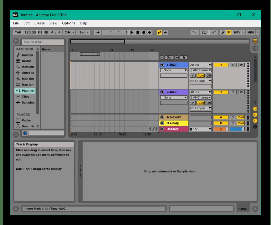 Сведение музыки и голоса в программе Ableton Live