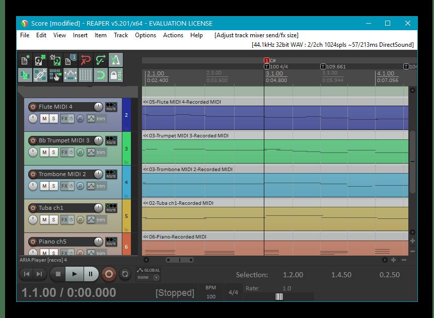 Сведение музыки и голоса в программе Reaper
