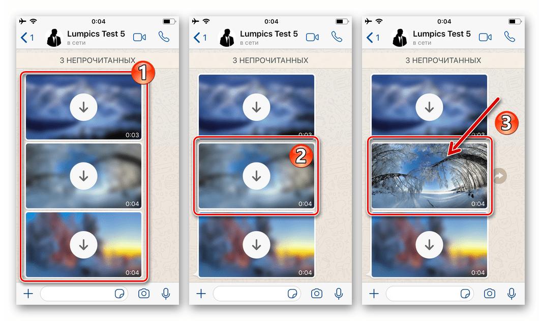 WhatsApp для iOS просмотр и одновременное скачивание в память iPhone фото из чата