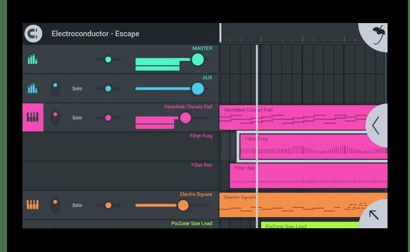 Интерфейс приложения FL Studio Mobile на Айфон