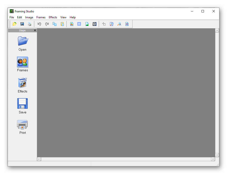 Интерфейс приложения Framing Studio