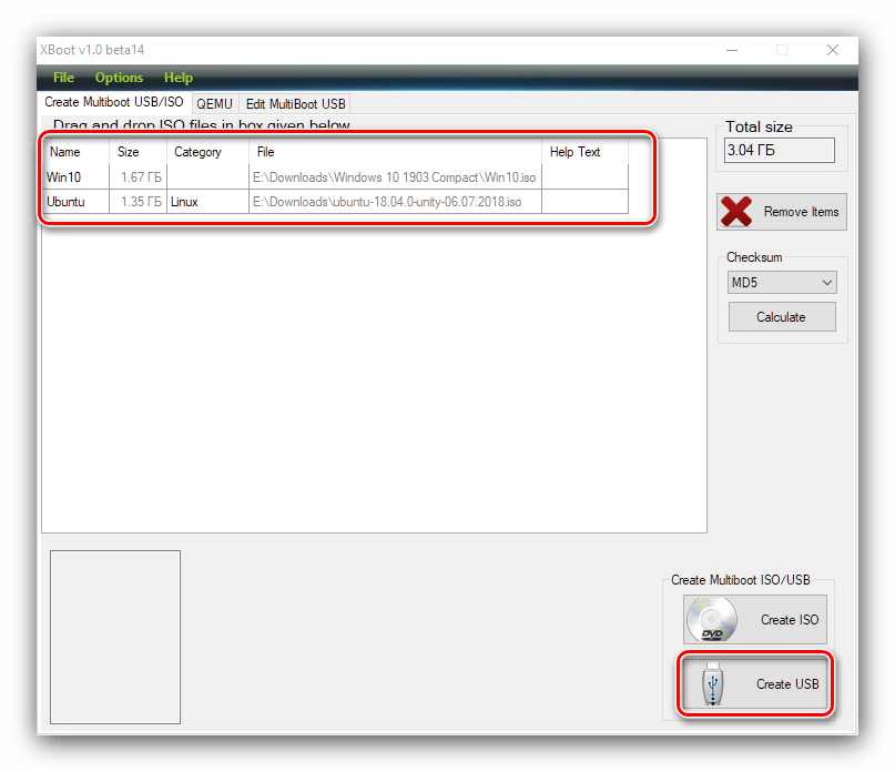 Начать работу Xboot для создания мультизагрузочной флешки с Windows 10