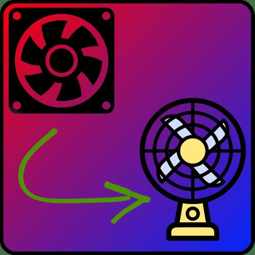 Настольный вентилятор из компьютерного кулера
