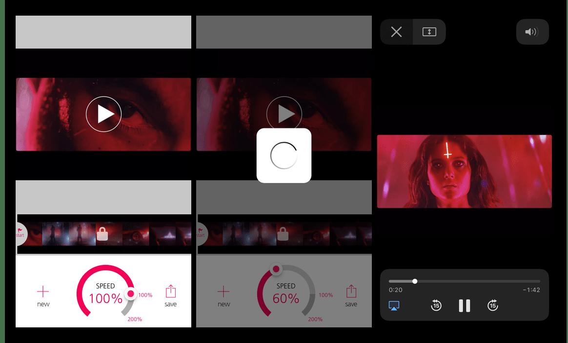 Приложение Slo Mo Video для замедления видео на iPhone