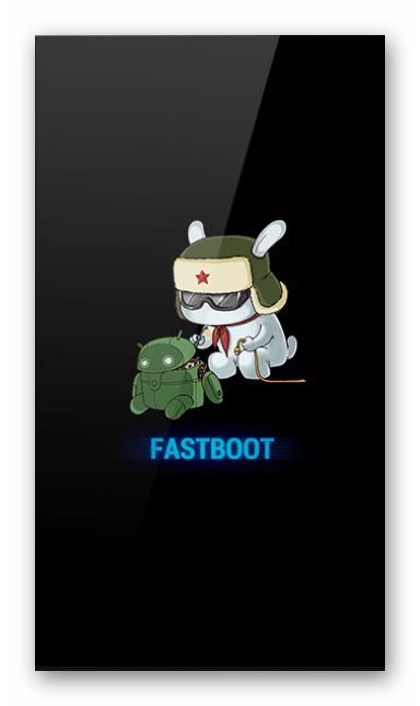 Xiaomi Redmi 4X смартфон переведён в режим FASTBOOT