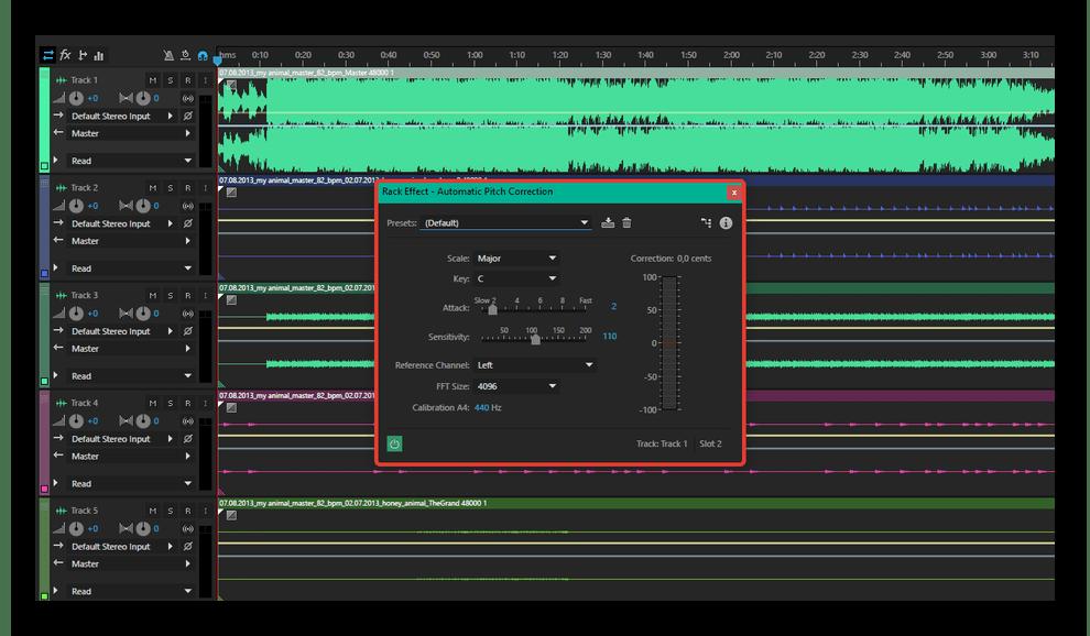 Интерфейс приложения Adobe Audition
