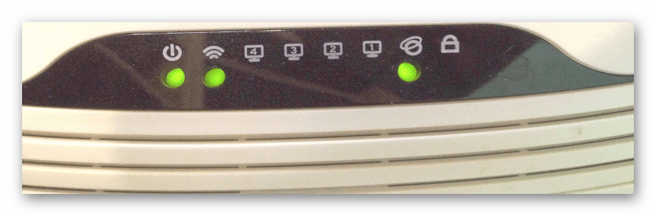 Проверка индикаторов роутера TP-Link при соединении с компьютером