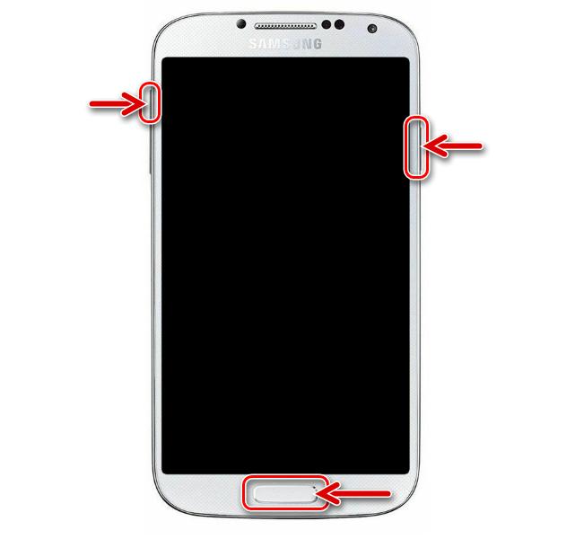 Samsung Galaxy S4 GT-I9500 как войти в рекавери на смартфоне