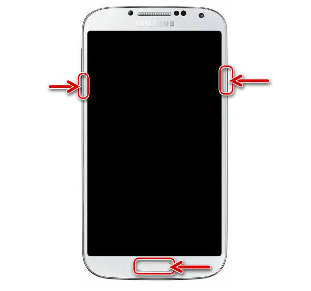 Samsung Galaxy S4 GT-I9500 переключение смартфона в режим Download (Odin-режим)