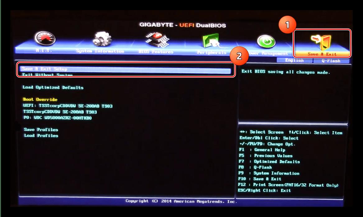 Сохранить настройки BIOS для устранения ошибки 0x8030001 при установке Windows 10