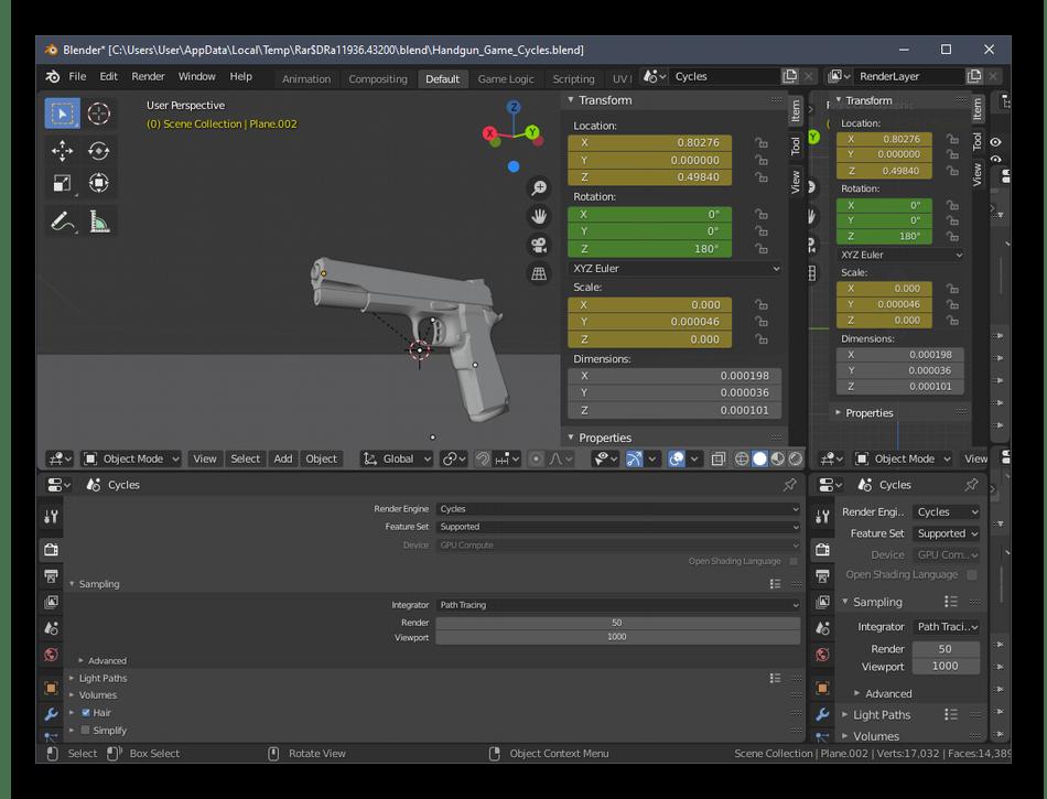 Создание фигуры для трехмерной печати в программы Blender