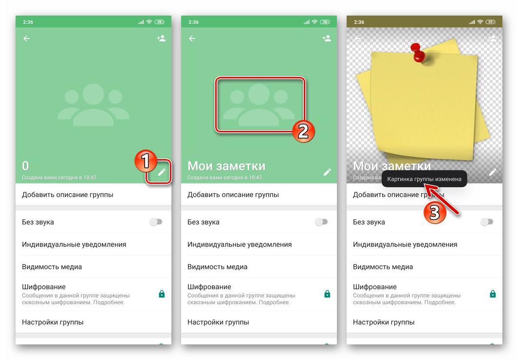 WhatsApp - оформление группового чата в мессенджере