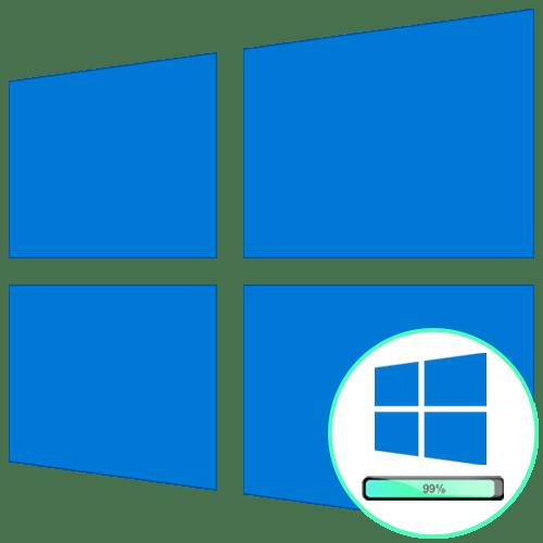 Windows 10 при загрузке зависает на логотипе