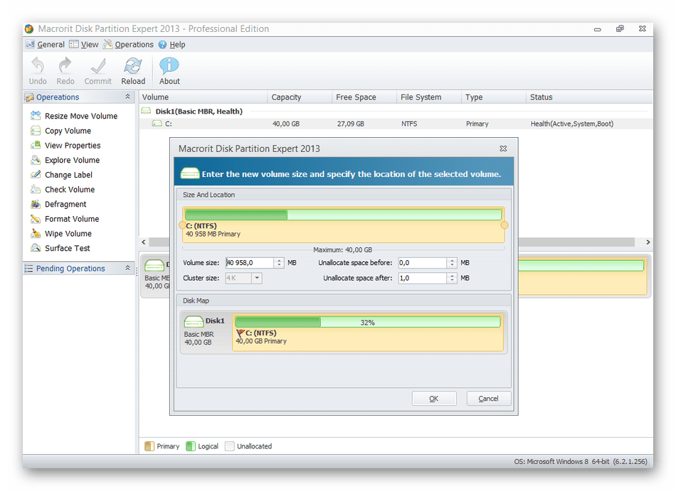 Использование программы Macrorit Disk Partition Expert для расширения диска С