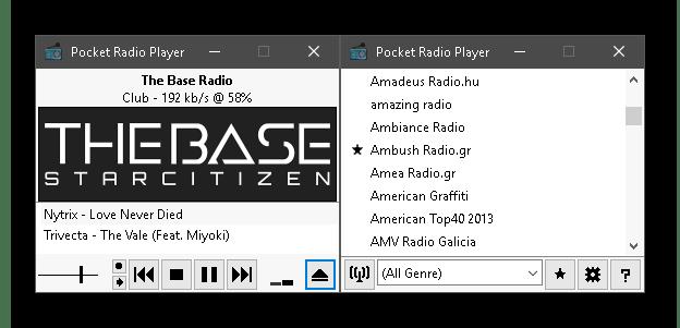 Использование программы Pocket Radio Player для прослушивания радио на компьютере