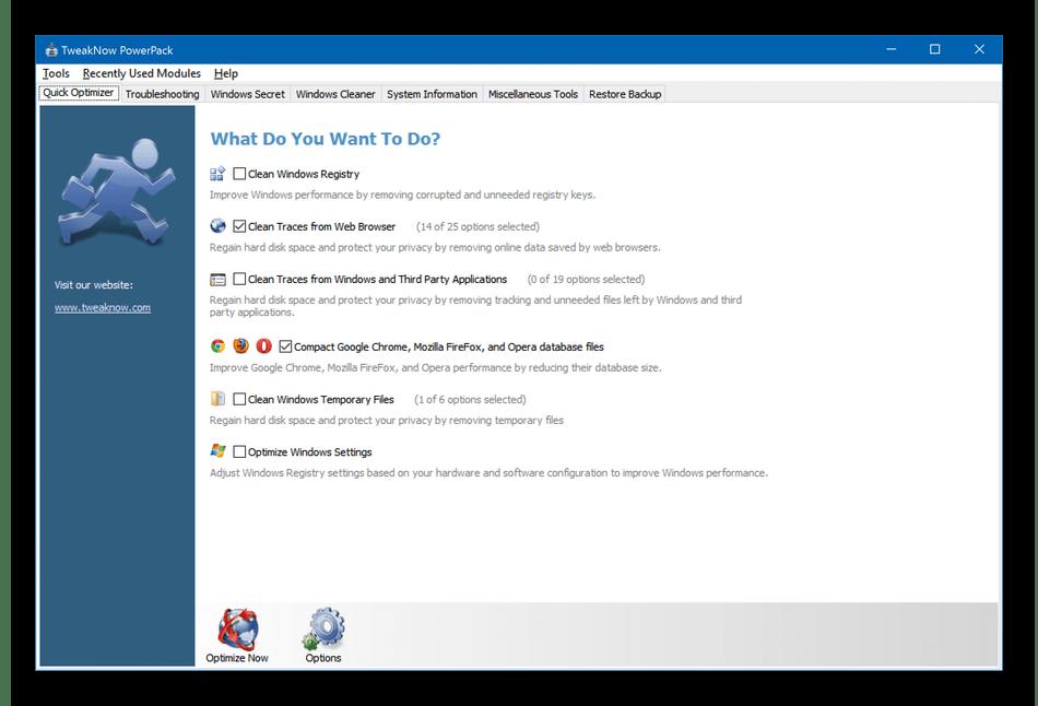 Использование программы TweakNow PowerPack для настройки Windows 10
