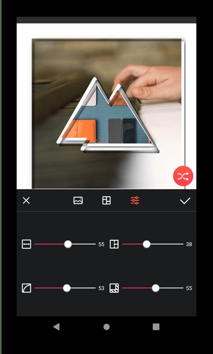 Настройки Lidow для создания коллажей на Android