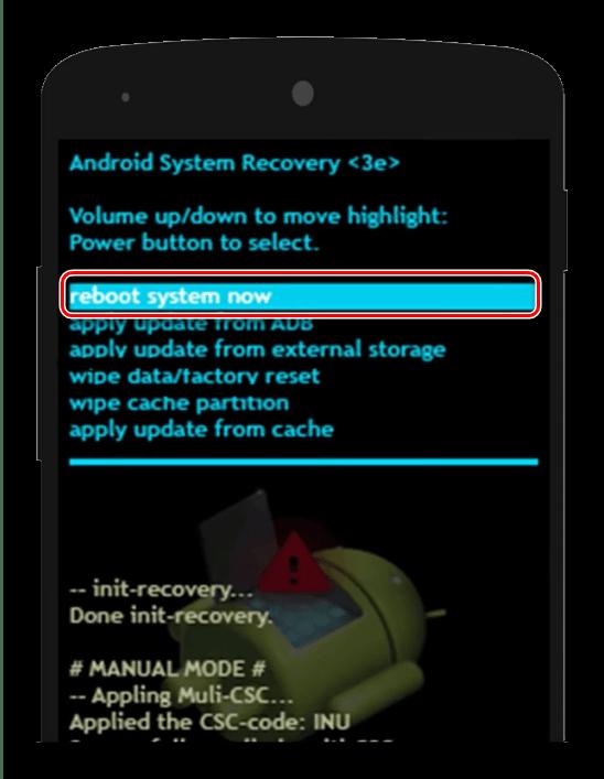 Перезагрузка в рекавери Android для устранения зависаний на заставке
