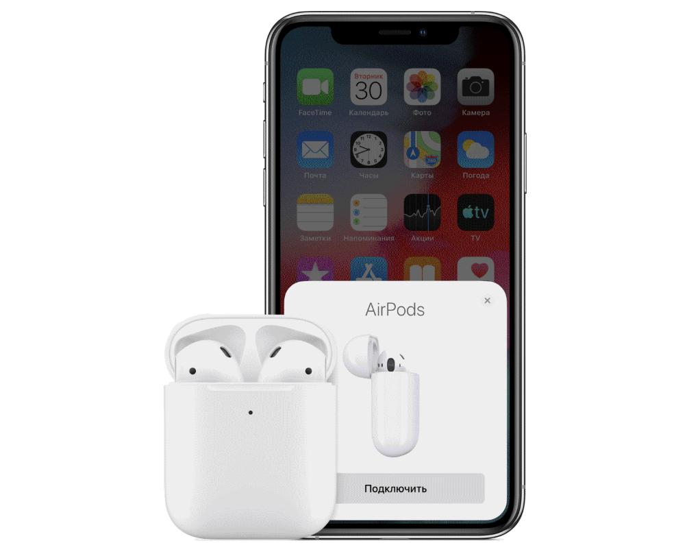 Первое подключение AirPods к iPhone